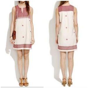 Madewell Stitch Mosaic Shift Dress
